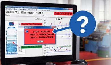 Where do the typical control chart signals come from?